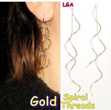 Rose Gold Pl Ear Thread Drop Earrings Trendy Jewellery C FREE POST
