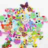 50PCs Wooden Buttons Butterfly Owl Cartoon Shape 2-hole Sewing Scrapbook DIY