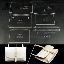 WUTA Leather Craft Clear Acrylic shoulder bag handbag Pattern Stencil Template