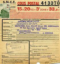 FRANCE COLIS POSTAUX N° 206 SUR BULLETIN D'EXPEDITION du 18/09/1943