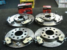 AUDI A4 2.0 1.9TDI 130 B6 CROSS DRILLED GROOVED BRAKE DISC MINTEX PAD FRONT REAR