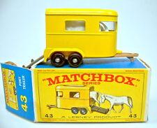 Matchbox RW 43C Pony Trailer frühe braune Bodenplatte top in Box