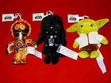 Hallmark Collectible Star Wars Set of (3) C3Po, Darth Vader, Yoda Tree Ornament