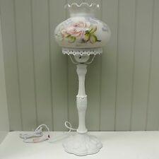 Kaldun & Bogle Glass Rose Butterfly Victorian Lamp