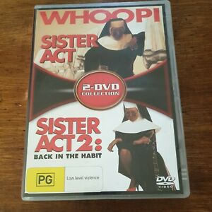 Sister Act 1 + 2 Collection DVD R4 Like New! FREE POST