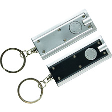 2 x Keyring Super Bright 10cm LED Torch Black Silver Camping Flashlight