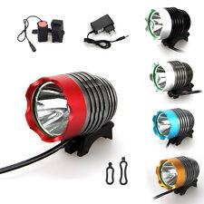 5000 Lumen XM-L T6 LED antorcha Faros Faro Bicicleta Bici Luz De Cabeza Conjunto