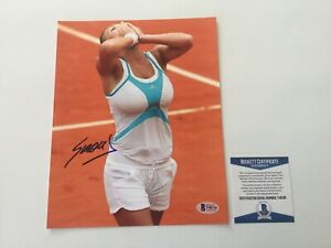 Simona Halep Signed Autographed 8x10 Photo Beckett BAS COA b