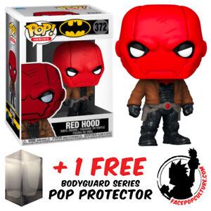 FUNKO POP VINYL DC BATMAN RED HOOD #372 EXCLUSIVE VINYL FIGURE + POP PROTECTOR