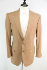 Oxxford English Cashmere Super 120s Wool 2 Btn 1/4 Lined Camel Tan Blazer 42L