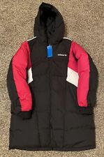 NEW Adidas Originals Long Down Jacket Womens Ladies EC2184 Black Size X-Large XL
