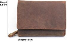 ladies genuine leather purse RFID Protected Black and Brown