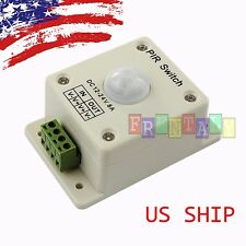 LED LIGHTING MOTION ACTIVATED SENSOR SWITCH 12 VOLT DC PASSIVE PIR LIGHT CONTROL