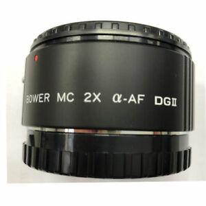 Bower 2X AF Lens Teleconverter for Sony alfa camera a55 a65 a300 a500 a550 a900