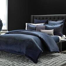 New $620 Hudson Park Collection Flourish Quilted King Coverlet Color Navy