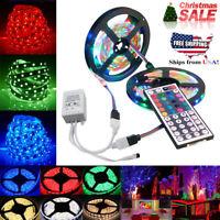 10M 3528 SMD RGB 600 LED Strip Light String Tape+44 Key IR Remote Control USA