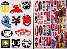 2 Sheets scooter motocross Stickers atv mx Energy Rockstar BMX Bike 89nG decal