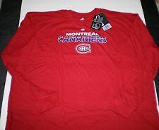 BRAND  NEW NHL MEN'S MONTREAL CANADIENS L/S BIG & TALL MAJESTIC  T-SHIRT 4XL  4X