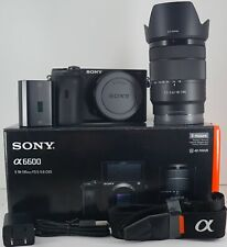 Sony Alpha a6600 24.2MP Mirrorless Camera Black W/18-135mm Lens Plus Accessories