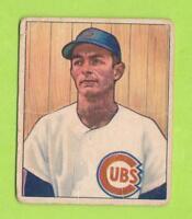 1950 Bowman - Roy Smalley (#115)  Chicago Cubs   Fair-Good Shape