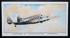 Lockheed 14  Super Electra    Original Vintage Card  # VGC