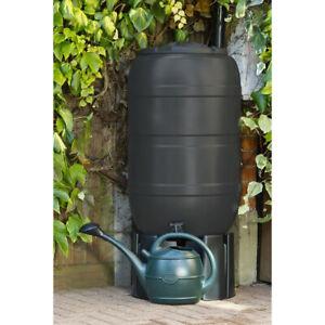 210L Black Standard Barrel Water Butt - Recycle Rainwater