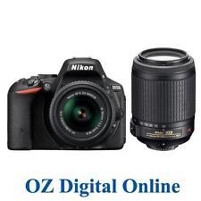 NEW Nikon D5500 18-55 + 55-200 VR Kits 24.2 MP Full HD DSLR Camera 1 Yr AustWty