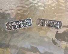 U.S.A. AMERICAN SERVICE MEN 2 VIETNAM VETERAN RIBBON PEWTER PINS ALL NEW.