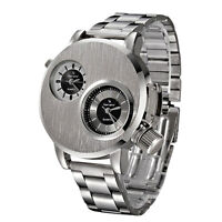 Sport Watch Mens Watch Stainless Steel Quartz Analog Wrist Watch Fashion Watches