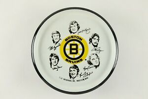 Rare 1970s Boston Bruins Hockey Decorative Serving Tray w/ Bobby Orr