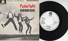 GENESIS  disco 45 giri MADE in ITALY 1982 Paperlate + You might recall