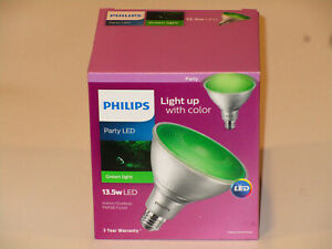 Philips Green Party LED Indoor Outdoor PAR38 Flood Lamp 13.5W E26 Standard Base