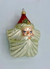 Beautiful Polonaise Star Santa - Sparkling Beard - Mib 5 1/2""