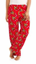 Christmas pajamas womens 3X emoji poop pants fleece new candy canes 22W/24W K8