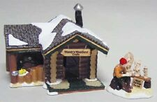 "******** DEPT 56 SNOW VILLAGE ""WOODY'S WOODLAND CRAFTS"", SET OF 2 - NIB ********"