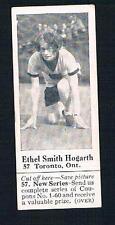 1926 Dominion Chocolate Sports Card #57 Ethel Smith Hogarth Toronto (Sprinting)