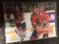1996 PINNACLE HOCKEY CHRIS CHELIOS MCDONALD'S CARD MCD-23 CHICAGO BLACKHAWKS