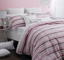 New LOGAN and MASON POPPY PINK 100% Cotton DOUBLE Size Quilt Doona Cover Set