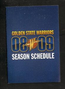 Golden State Warriors--2008-09 Pocket Schedule--KNBR