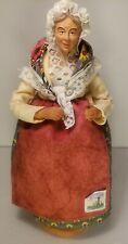 Vintage ESCOFFIER Old Woman Figurine France Fabrication Des Santonniers Province