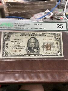 FR 1803-1 Wayne Michigan National Bank note VF 25 PMG