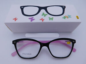 Trendy Fashion Black & Purple Readers With Box