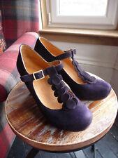 Chie Mihara T Bar Bark Purple shoes 7/40