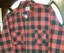 Men's Extra Large Red Black Plaid Button Front Shirt Ozark Trail.            Cb4