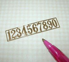 Miniature Gold-Plated Brass House Numbers: DOLLHOUSE 1/12 Scale