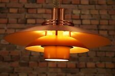 70s DANISH PENDANT LIGHT CEILING LAMP RETRO CHANDALIER DENMARK Vintage C24