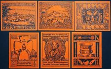 OBERHELDRUNGEN 1921 *RARE* complete orange paper series! German Notgeld