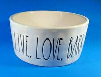 "RAE DUNN Magenta Collection Live Love Bark Puppy Dog Pet Dish Bowl 6"""