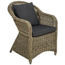 Poltrona seduta sedia da giardino in alluminio e polyrattan rattan con cuscini