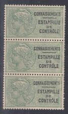 France 1937 - Timbres fiscaux N°28 neufs** - Bande de 3 timbres
